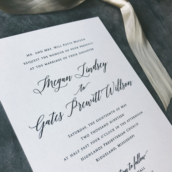 Watson Wedding Invitation - Deposit Listing