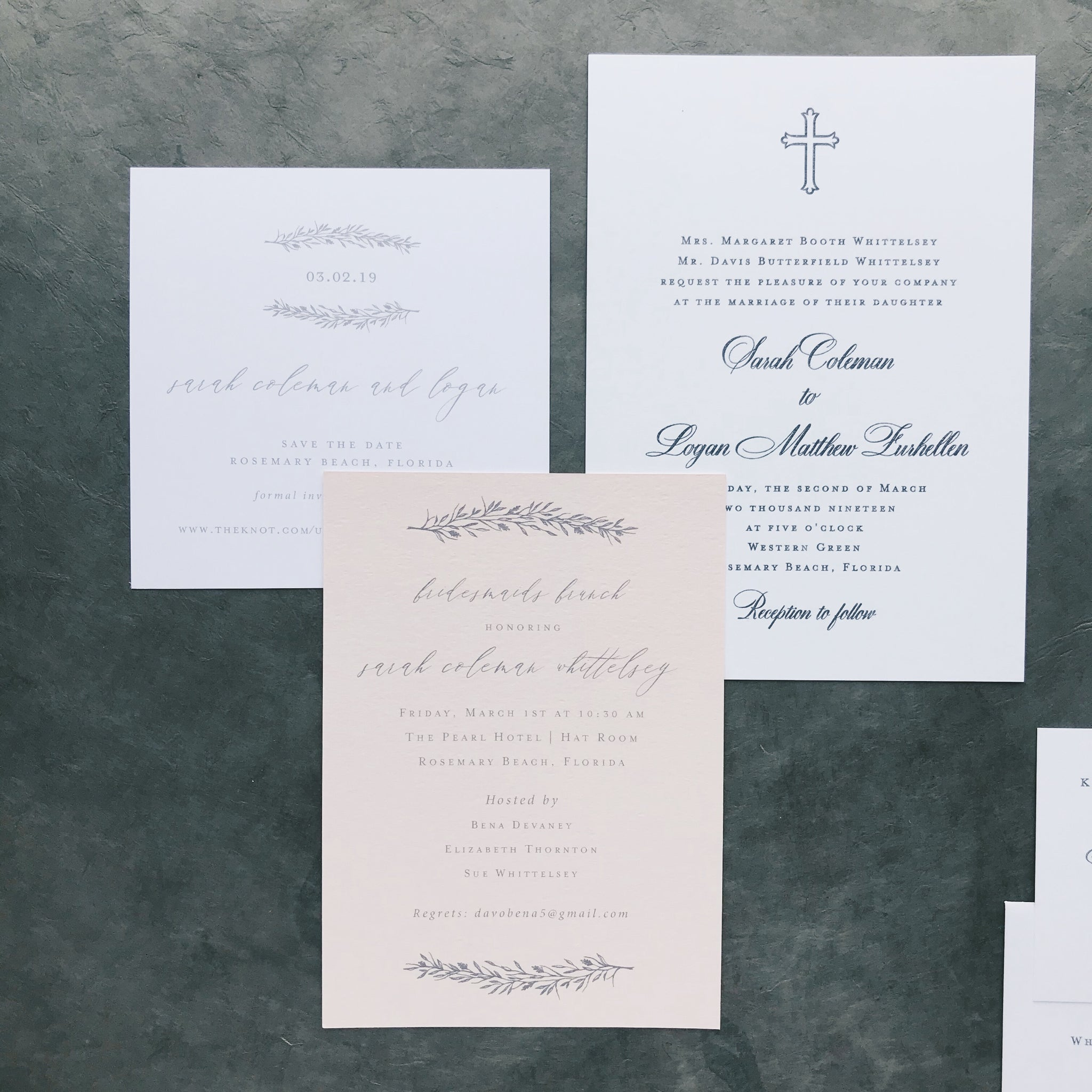 Whittelsey Wedding Invitation - Deposit Listing
