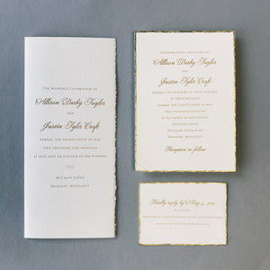 Taylor Wedding Invitation - Deposit Listing