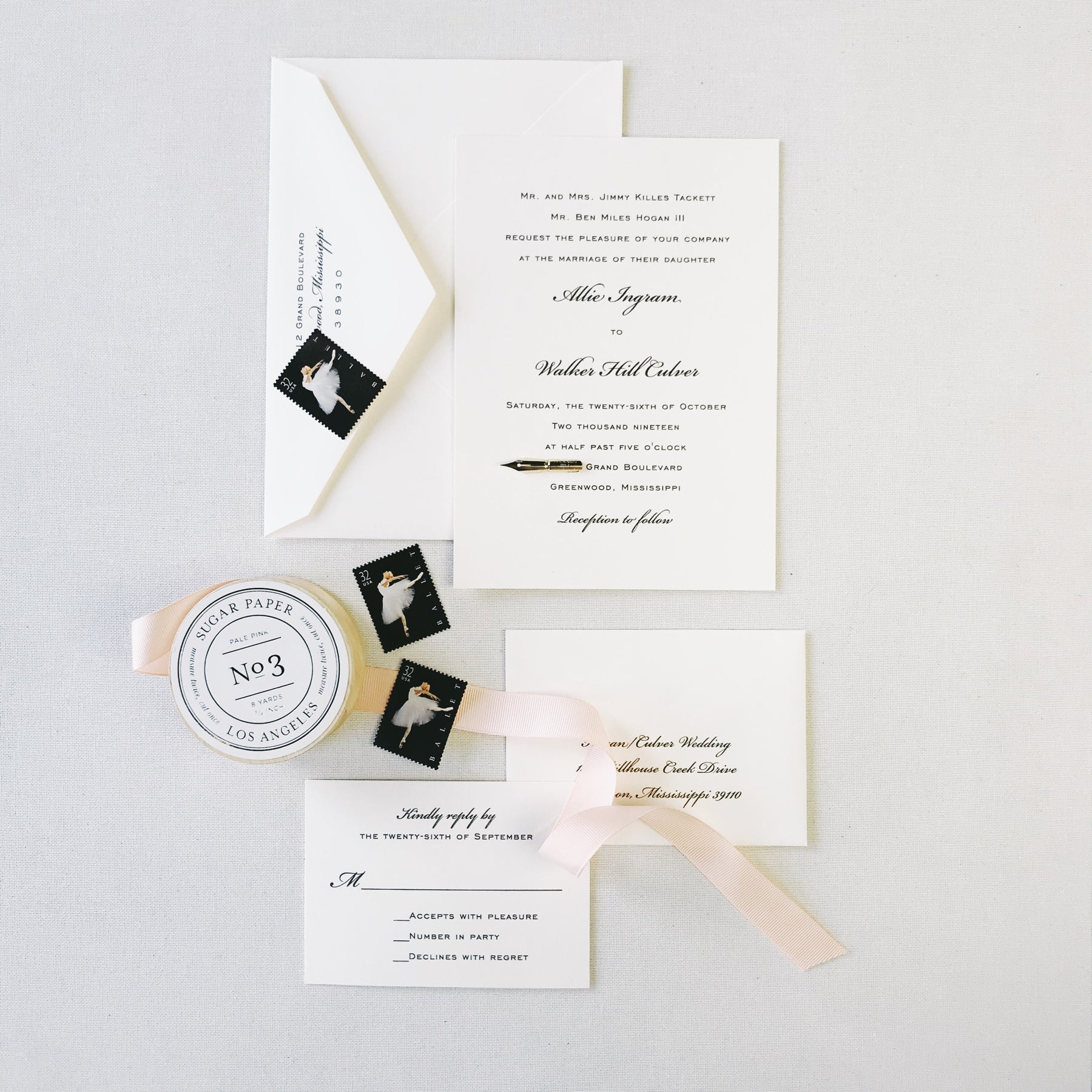 Hogan Wedding Invitation - Deposit Listing