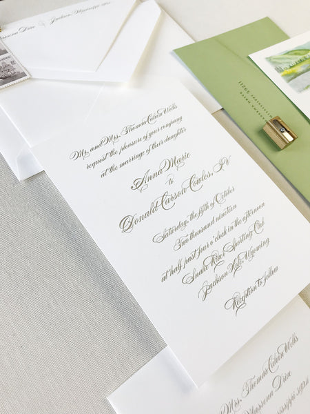 Wells Wedding Invitation - Deposit Listing
