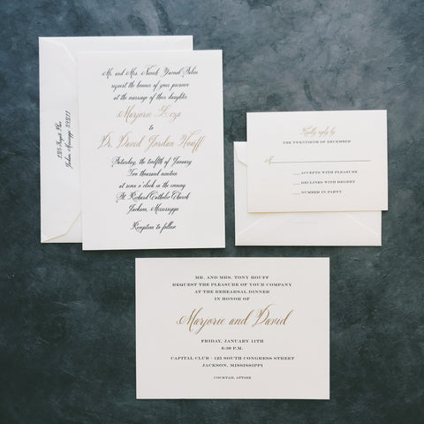Salem Wedding Invitation - Deposit Listing