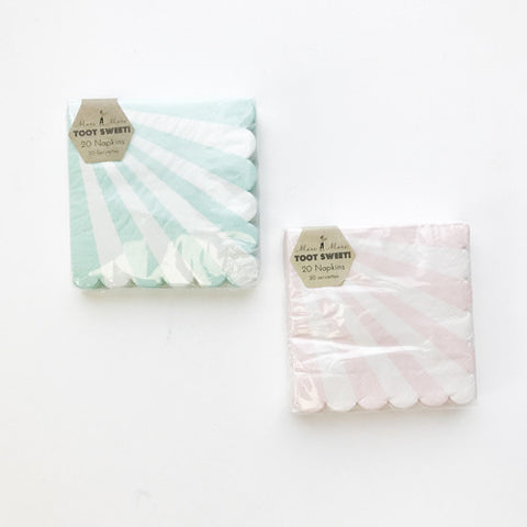 Striped Party Napkins