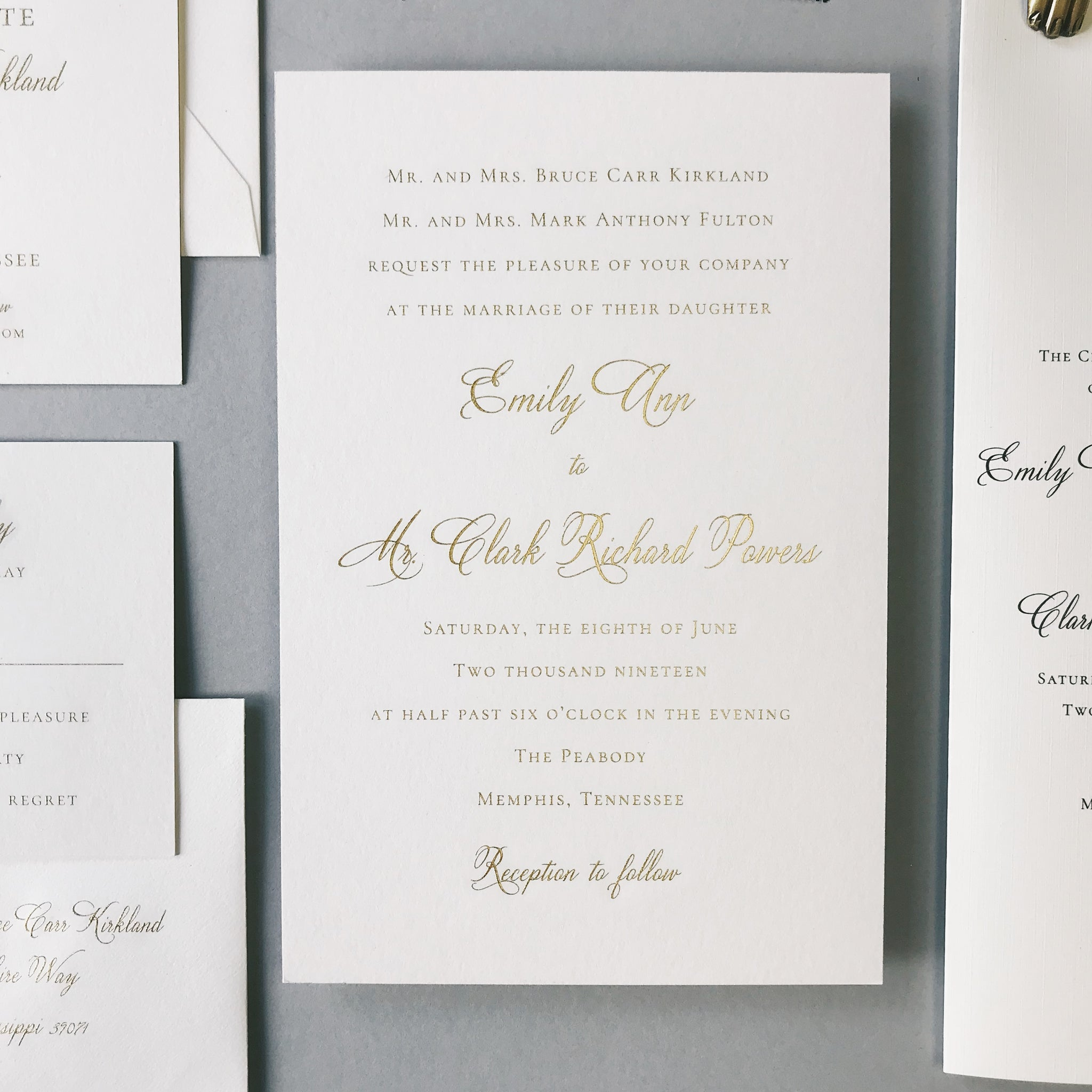 Kirkland Wedding Invitation - Deposit Listing