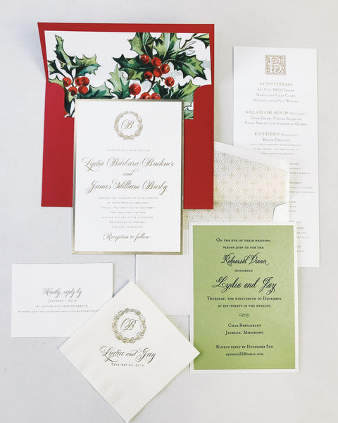 Buckner Wedding Invitation - Deposit Listing