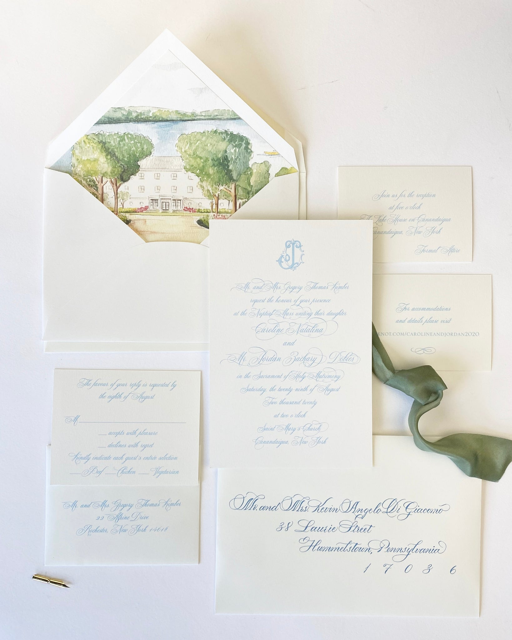 Kimber Wedding Invitation - Deposit Listing