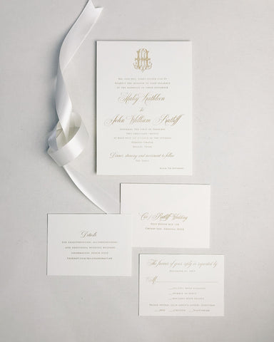 Cox Wedding Invitation - Deposit Listing
