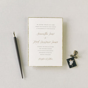 Curry Wedding Invitation - Deposit Listing