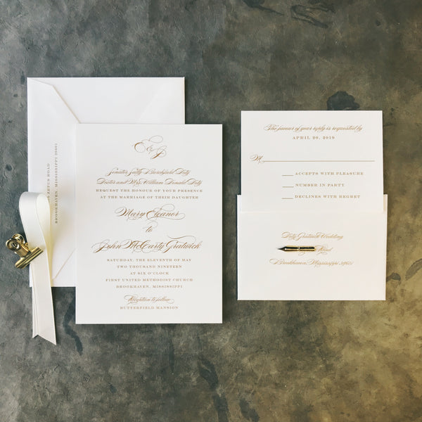 Doty Wedding Invitation - Deposit Listing