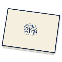 Border Monogram Note