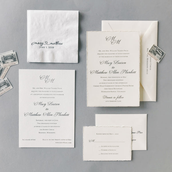 Price Wedding Invitation - Deposit Listing
