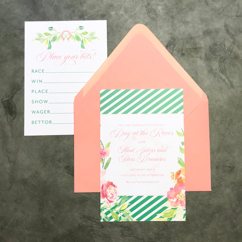 Derby Invitation (set of 10) and Bet Cards