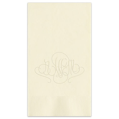 Embossed Monogram Guest Towel 1