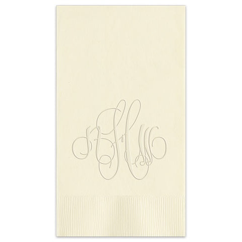 Embossed Monogram Guest Towel 3