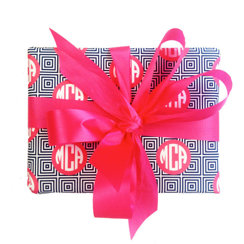 Monogramed Gift Wrap - Squares