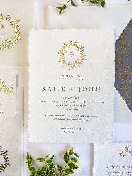 Katie Wedding Invitation - Deposit Listing