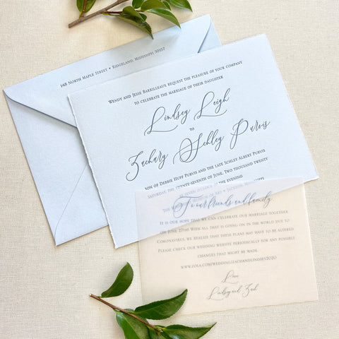 Barilleaux Wedding Invitation - Deposit Listing