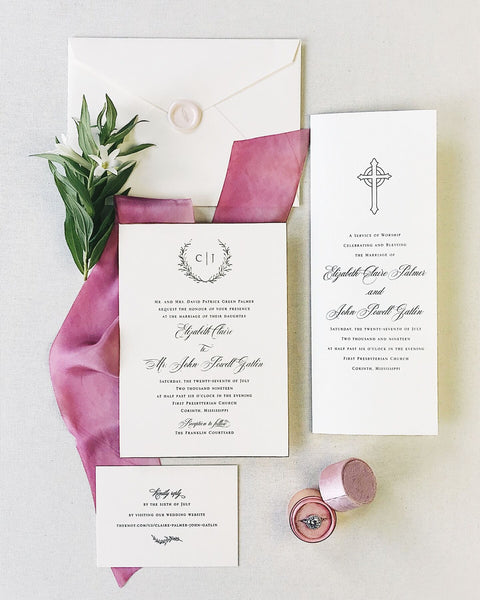 Palmer Wedding Invitation - Deposit Listing