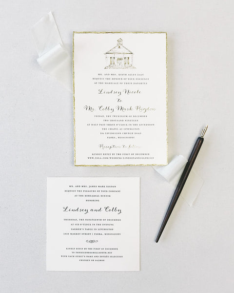 East Wedding Invitation - Deposit Listing