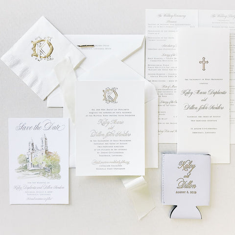 Duplantis Wedding Invitation - Deposit Listing