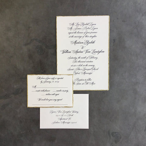 Dyson Wedding Invitation - Deposit Listing
