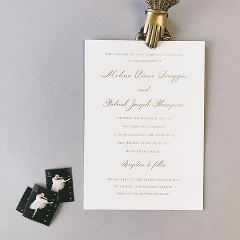 Scroggin Wedding Invitation - Deposit Listing