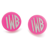 Acrylic Hartford Block Monogram Post Earrings