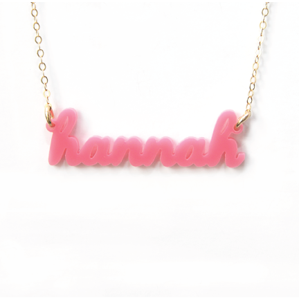 Acrylic Name Necklace