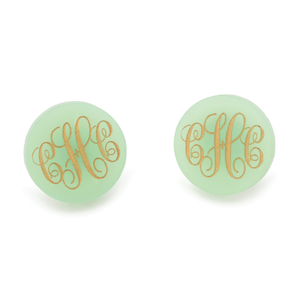 Acrylic Providence Script Monogram Post Earrings