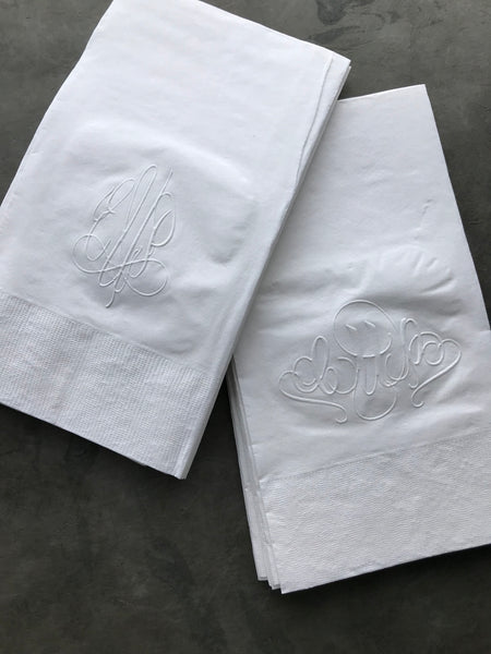 Embossed Monogram Guest Towel 2