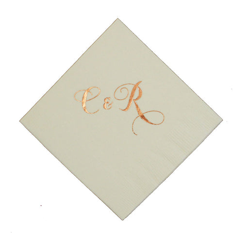 "Monogrammed Napkins - ""Mounger"" style"