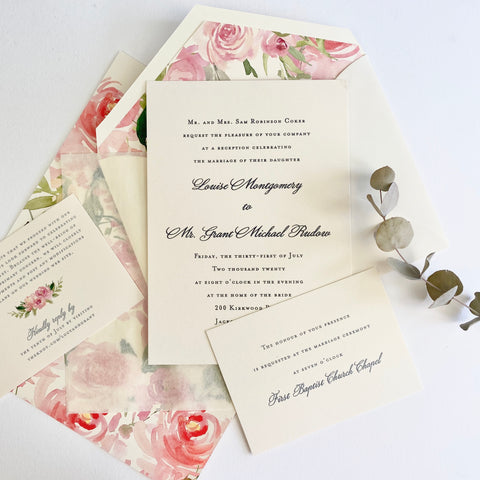 Coker Wedding Invitation - Deposit Listing