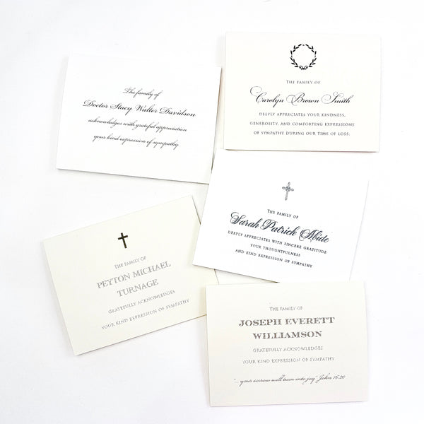 Custom Sympathy Stationery