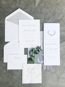 Savannah Wedding Invitation - Deposit Listing