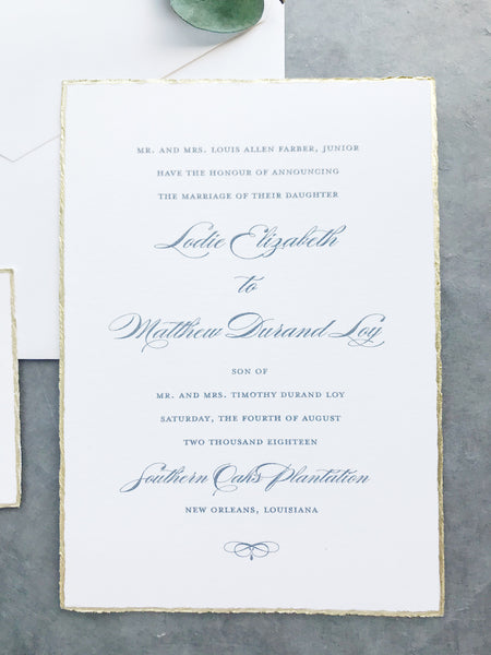 Lodie Wedding Invitation - Deposit Listing