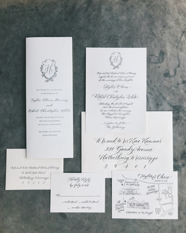 Herring Wedding Invitation - Deposit Listing