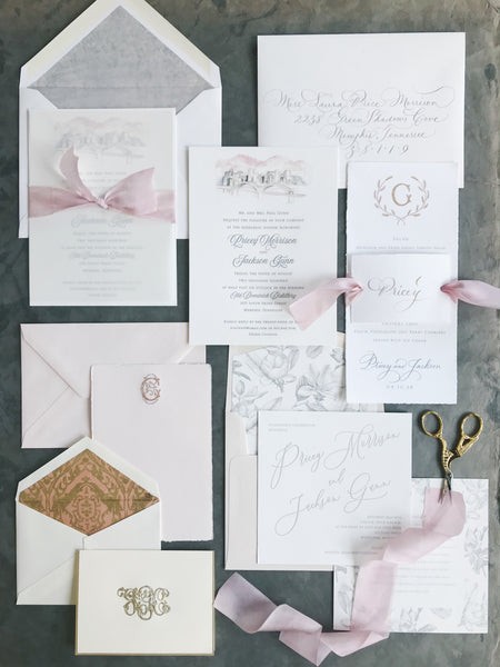 Pricey Wedding Invitation - Deposit Listing