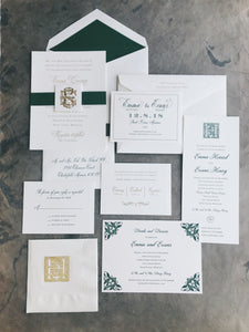 Emma Wedding Invitation - Deposit Listing