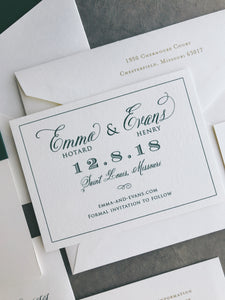 Emma Save the Date - Deposit Listing