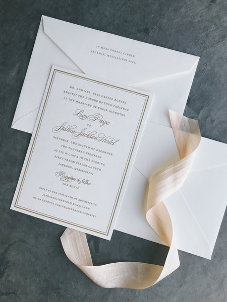 Lucy Wedding Invitation - Deposit Listing