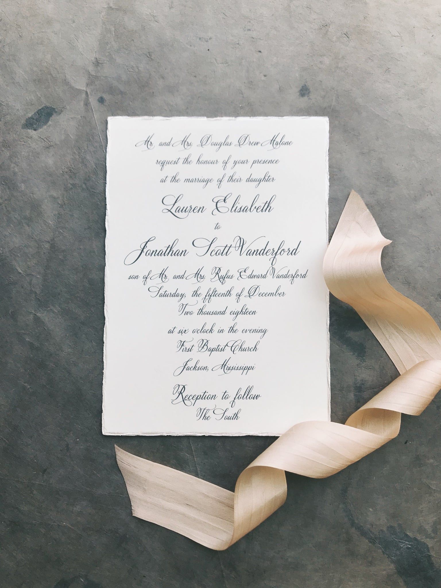 Malone Wedding Invitation - Deposit Listing