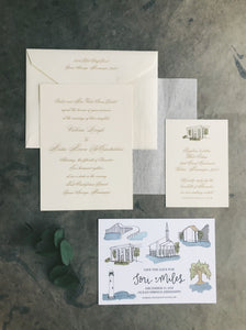 Tori Wedding Invitation - Deposit Listing