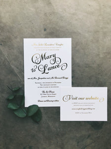 Mary Wedding Invitation - Deposit Listing
