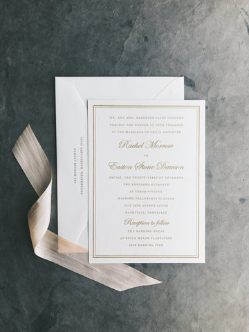 Gardner Wedding Invitation - Deposit Listing