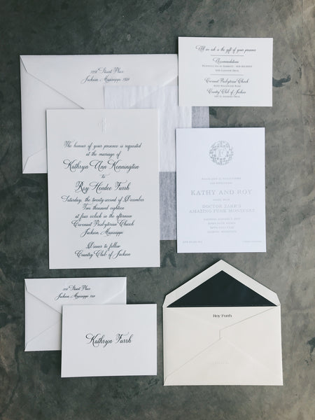 Newton Wedding Invitation - Deposit Listing
