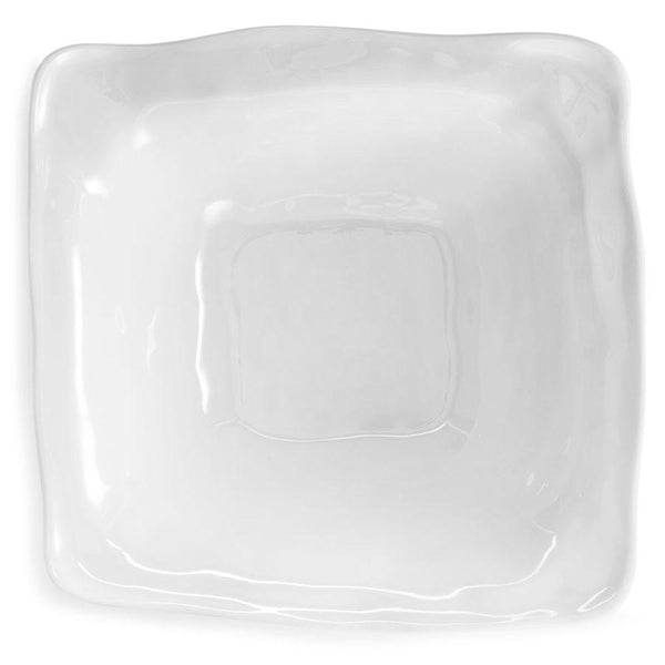 "Ruffle 12.5"" Square Melamine Serving Bowl"
