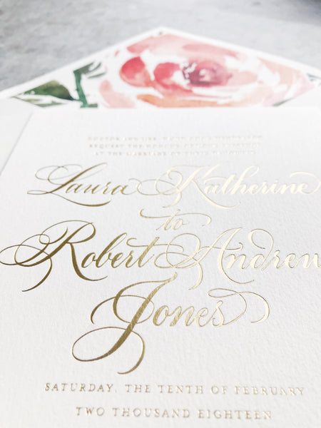 Henderson Wedding Invitation - Deposit Listing