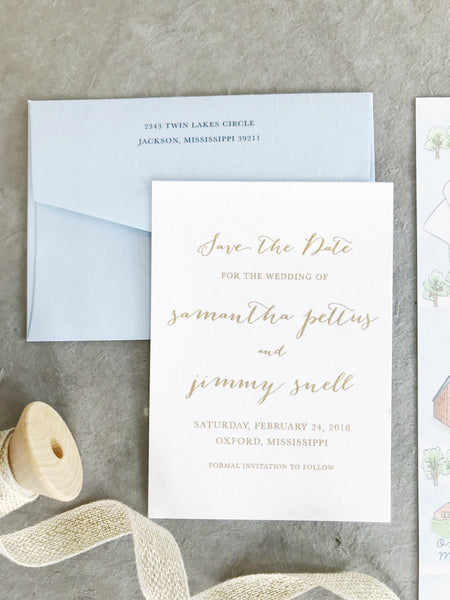 Samantha Save the Date - Deposit Listing