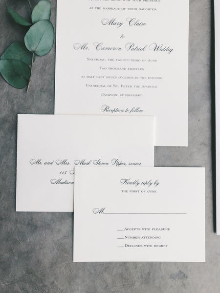 Pipper Wedding Invitation - Deposit Listing
