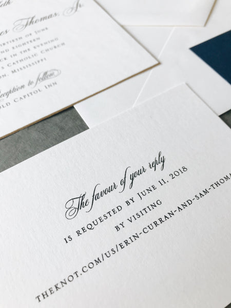 Curran Wedding Invitation - Deposit Listing